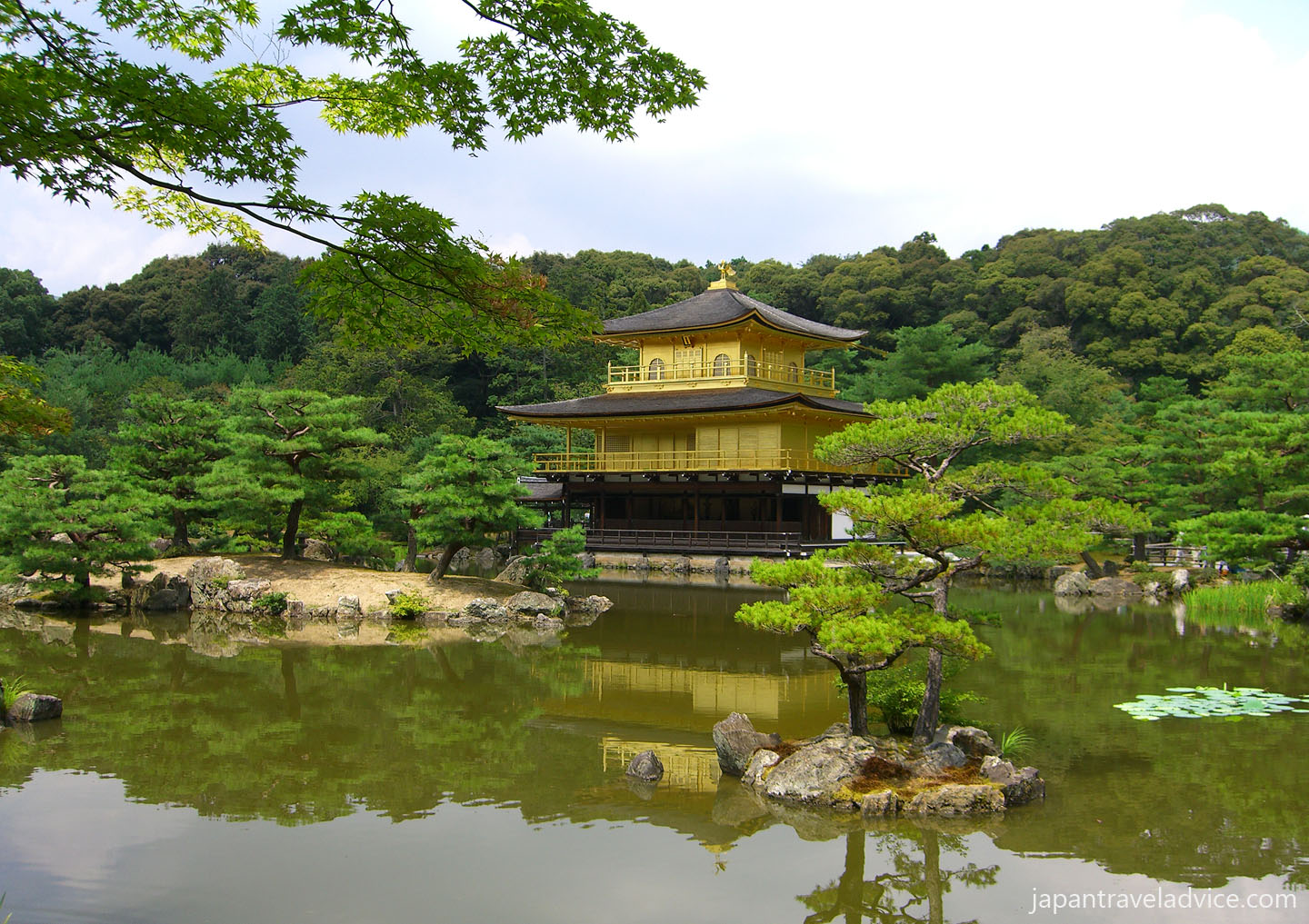 Kinkakuji Temple from the Mirror Pond