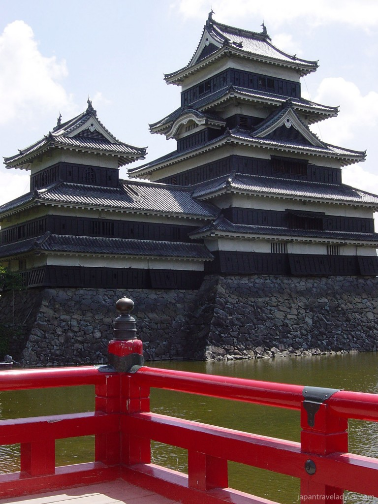 Matsumoto Castle from Red Bridge