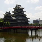 Matsumoto Castle with city in background