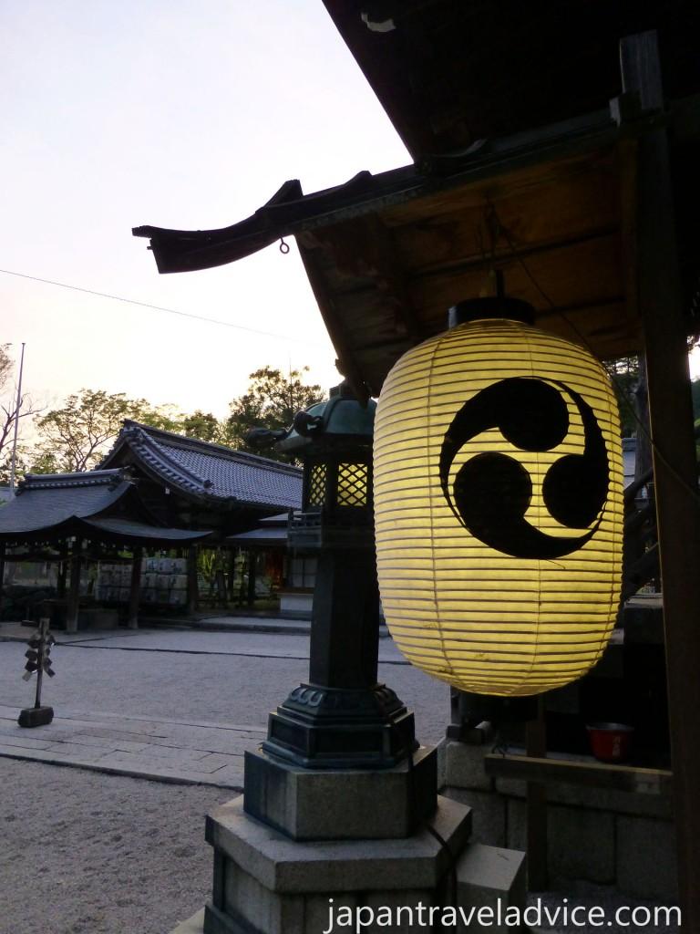 Chochin at Himure Hachimangu Shrine