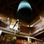 Inside the Shoro Bell Tower at Chomeiji Temple