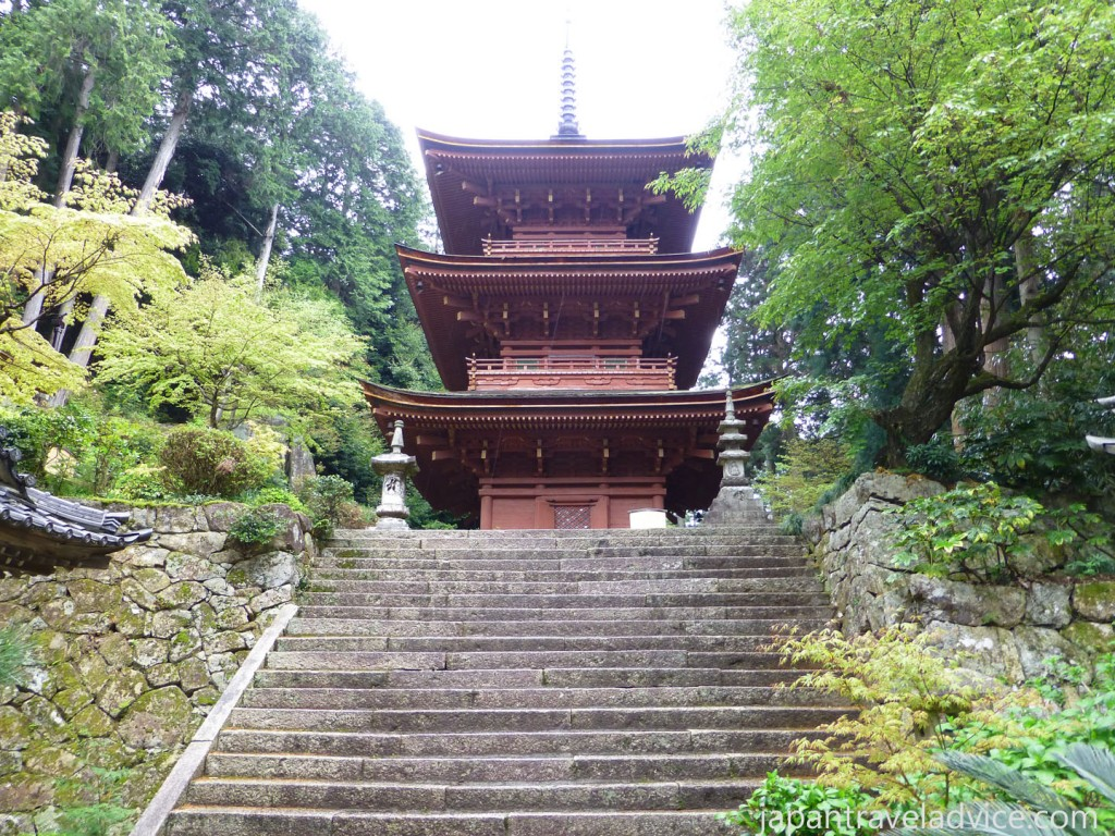 Three Storied Pagoda at Chomeiji Temple