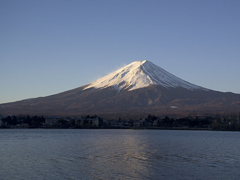 Mt. Fuji at sunrise from Lake Kawaguchi