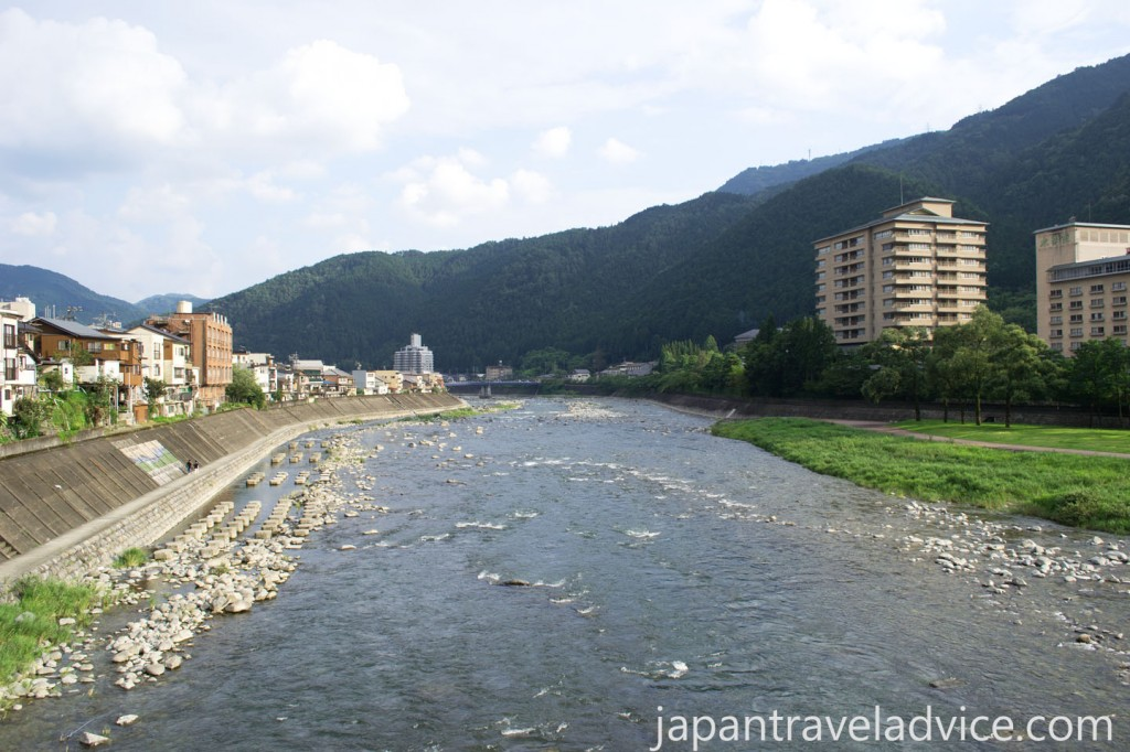 Hida River at Gero Onsen