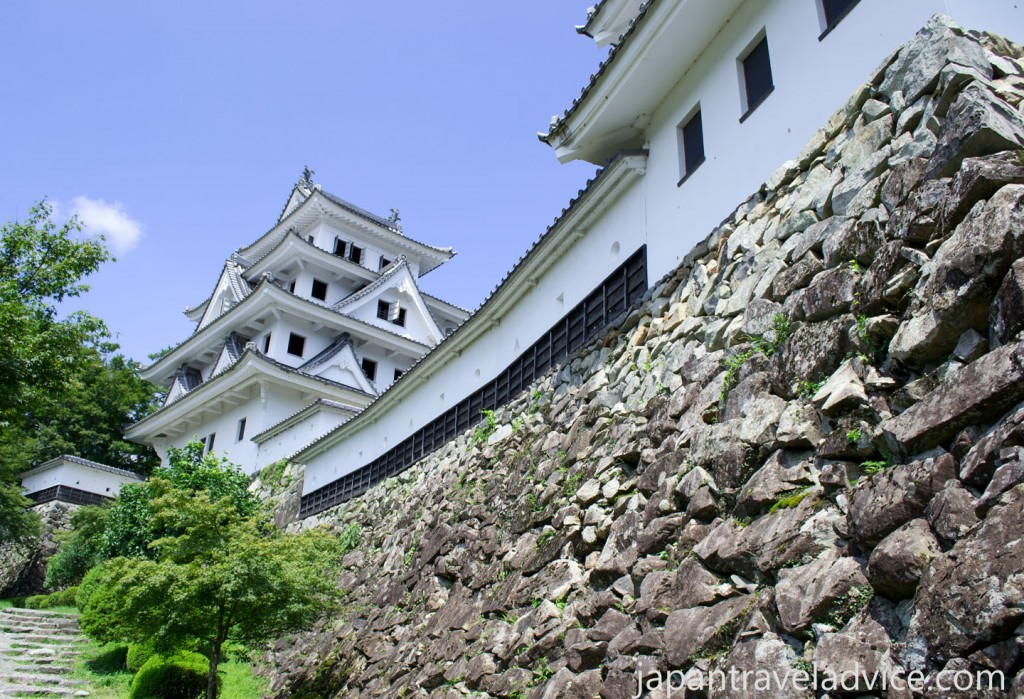 Stone Walls and Yagura at Gujo Hachiman Castle