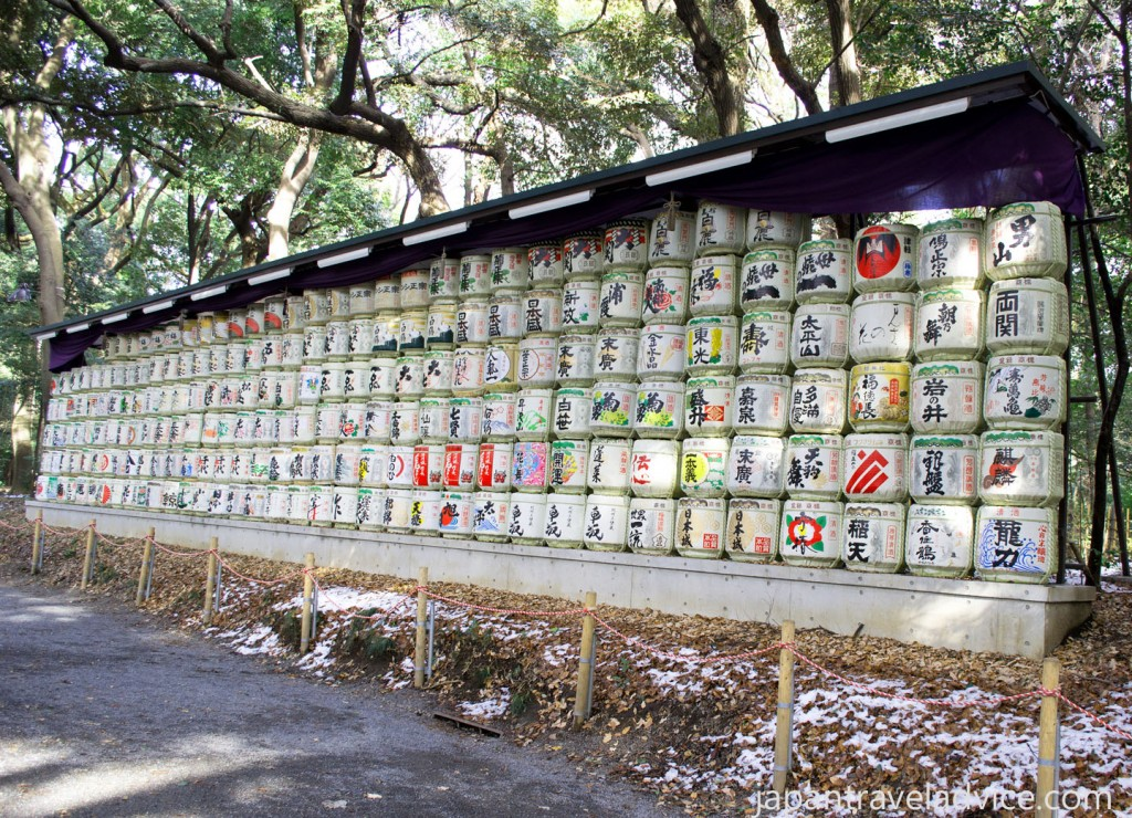 Meiji Jingu Decorative Sake Barrels